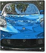 Tesla Roadster Electric Sports Car Acrylic Print by Samuel Sheats