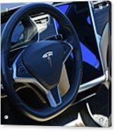 Tesla S85d Cockpit Acrylic Print