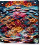 Tesseralien Griddle Acrylic Print