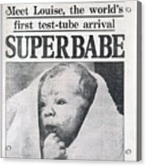 Test-tube Baby, 1978 Acrylic Print