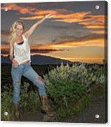 Tetom Sunset 1 Acrylic Print