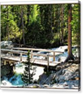 Teton Bridge Acrylic Print