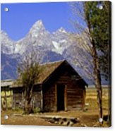 Teton Cabin Acrylic Print