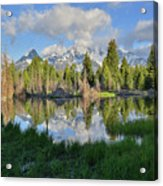 Teton Mirror Image Acrylic Print