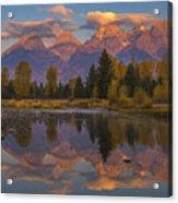 Teton Morning Mirror Acrylic Print