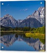 Teton Mountains Reflection Acrylic Print