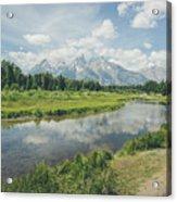 Teton Reflections Acrylic Print