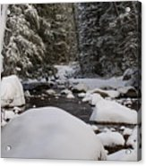 Teton River In Winter Acrylic Print