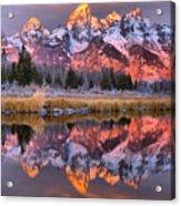 Teton Sunrise Spectacular Acrylic Print