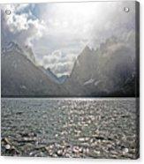 Tetons At Jenny Lake Acrylic Print