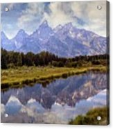 Tetons At The Landing 1 Acrylic Print