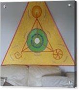 Tetrahedron From Wheat-shire Acrylic Print