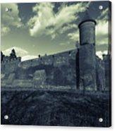 Teutonic Castle In Szymbark In Monochrome Acrylic Print