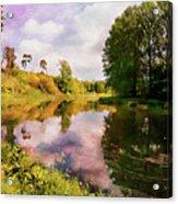 Teviot River Near Kelso. Acrylic Print