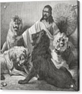 Tewodros Holding Audience, Surrounded Acrylic Print
