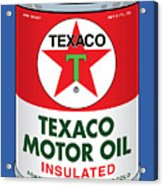 Texaco Can Acrylic Print