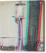 Texaco Gas Pump - Use Red-cyan 3d Glasses Acrylic Print