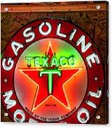 Texaco Gasoline Acrylic Print
