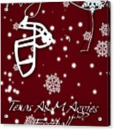 Texas Am Aggies Christmas Card Acrylic Print