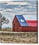 Texas Flag Barn #1 Acrylic Print