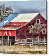 Texas Flag Barn #6 Acrylic Print