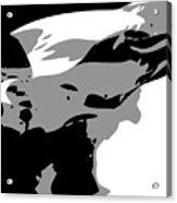 Texas Flag In The Wind Bw3 Acrylic Print by Scott Kelley