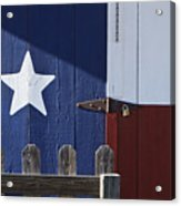 Texas Flag Painted On A House Acrylic Print by Jeremy Woodhouse