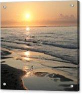 Texas Gulf Coast At Sunrise Acrylic Print