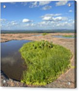 Texas Hill Country Enchanted Rock Zen Pools 2 Acrylic Print