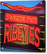 Texas Impressions Sweetie Pie's Ribeyes Acrylic Print