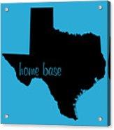 Texas Is Home Base Black Acrylic Print