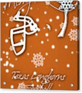 Texas Longhorns Christmas Card Acrylic Print