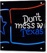 Texas Neon Sign Acrylic Print