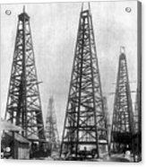 Texas: Oil Derricks, C1901 Acrylic Print