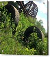 Texas Railway And Tires Acrylic Print