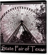 Texas Star Copper Poster Acrylic Print