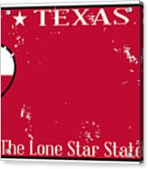 Texas State License Plate With Damage Acrylic Print