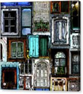 Textural Windows Collage Acrylic Print
