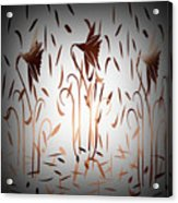 Texture Drama Dancing Flowers Acrylic Print
