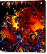 Texture Of Jackolantern Acrylic Print