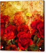 Texture Roses Acrylic Print