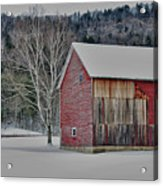 Textured Barn Acrylic Print