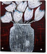 Textured Blooms Acrylic Print