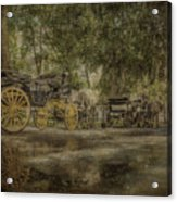 Textured Carriages Acrylic Print