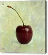 Textured Cherry. Acrylic Print by Bernard Jaubert