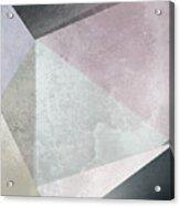 Textured Geometric Triangles Acrylic Print