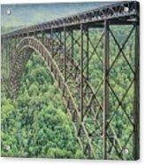 Textured New River Gorge Bridge Acrylic Print