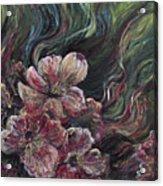 Textured Pink Petals Acrylic Print