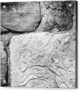 Textured Stone Wall Acrylic Print