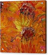 Textured Sunflowers Acrylic Print